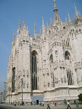 the cathedral is one of the top attractions in Milan, Italy><br>