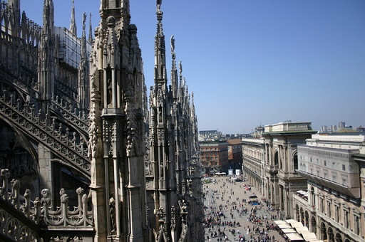 Duomo cathedral and galleria vittorio in milan